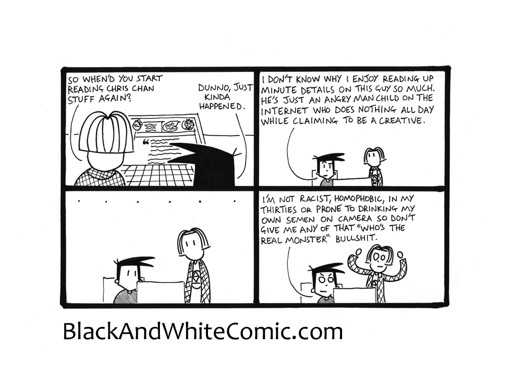 A link to the 03/04/2015 page of Black and White Comic