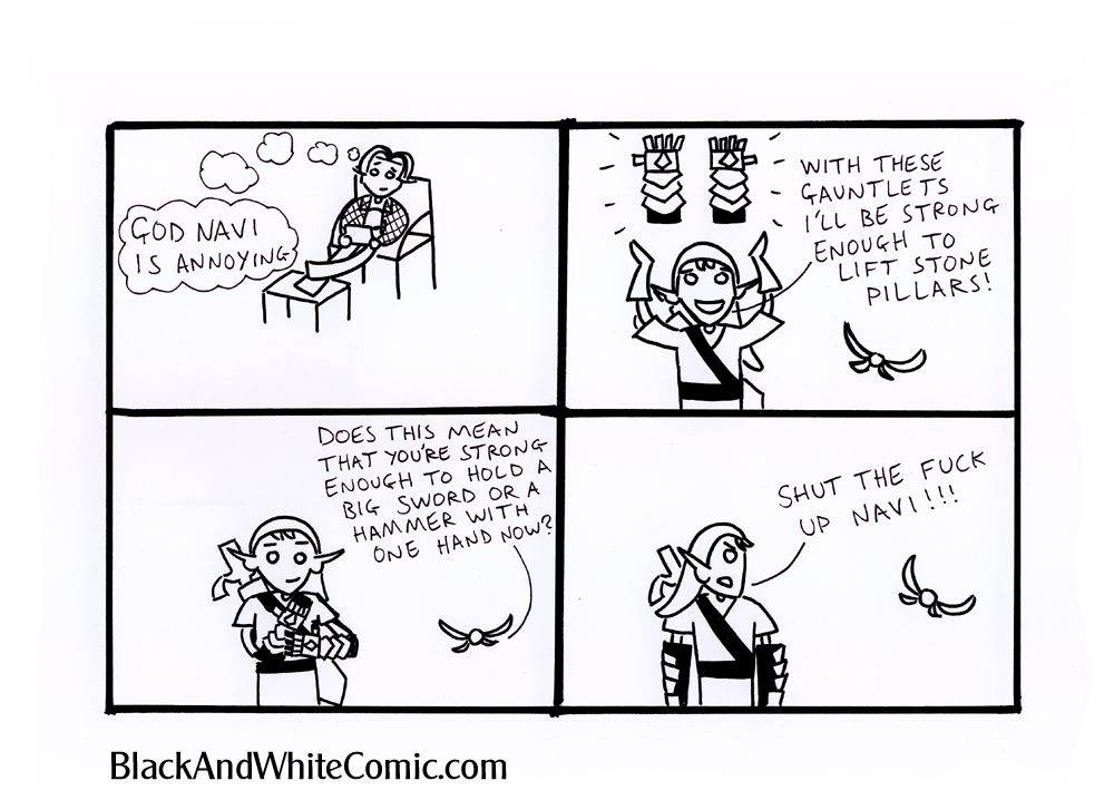 A link to the 05/04/2013 page of Black and White Comic