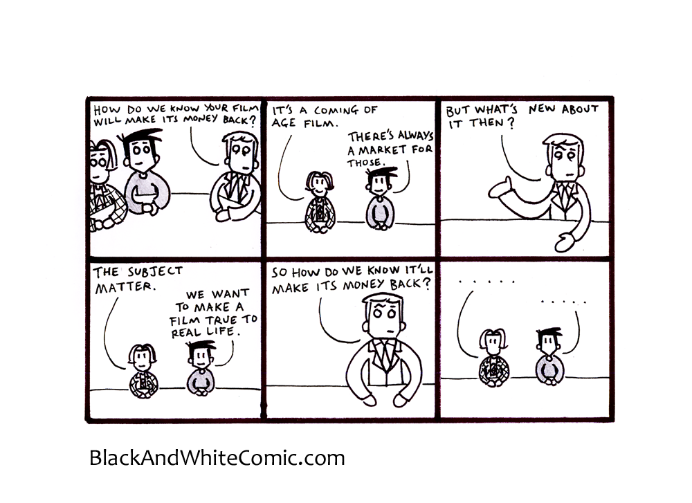 A link to the 06/12/2013 page of Black and White Comic