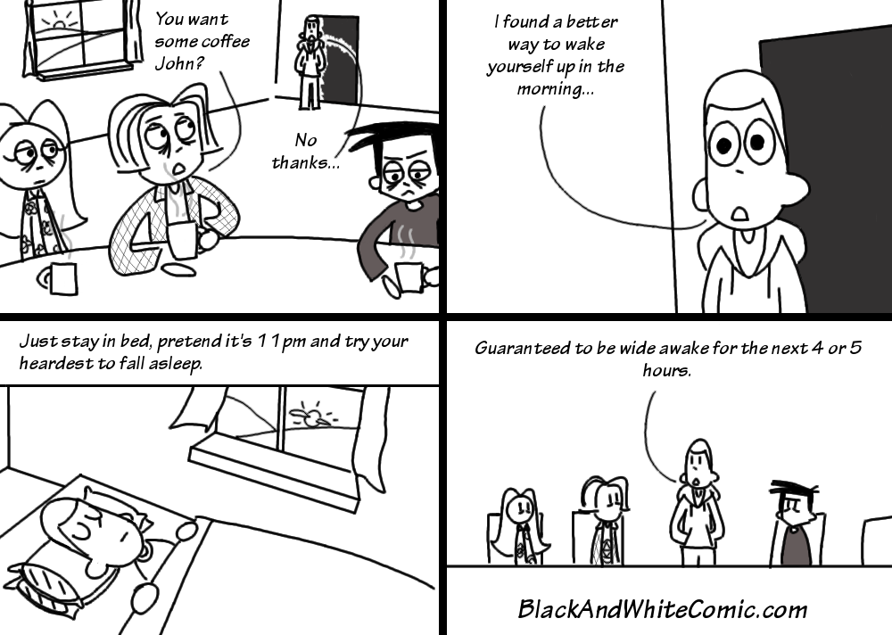 A link to the 16/12/2016 page of Black and White Comic