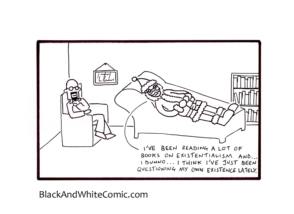 A link to the 20/12/2013 page of Black and White Comic
