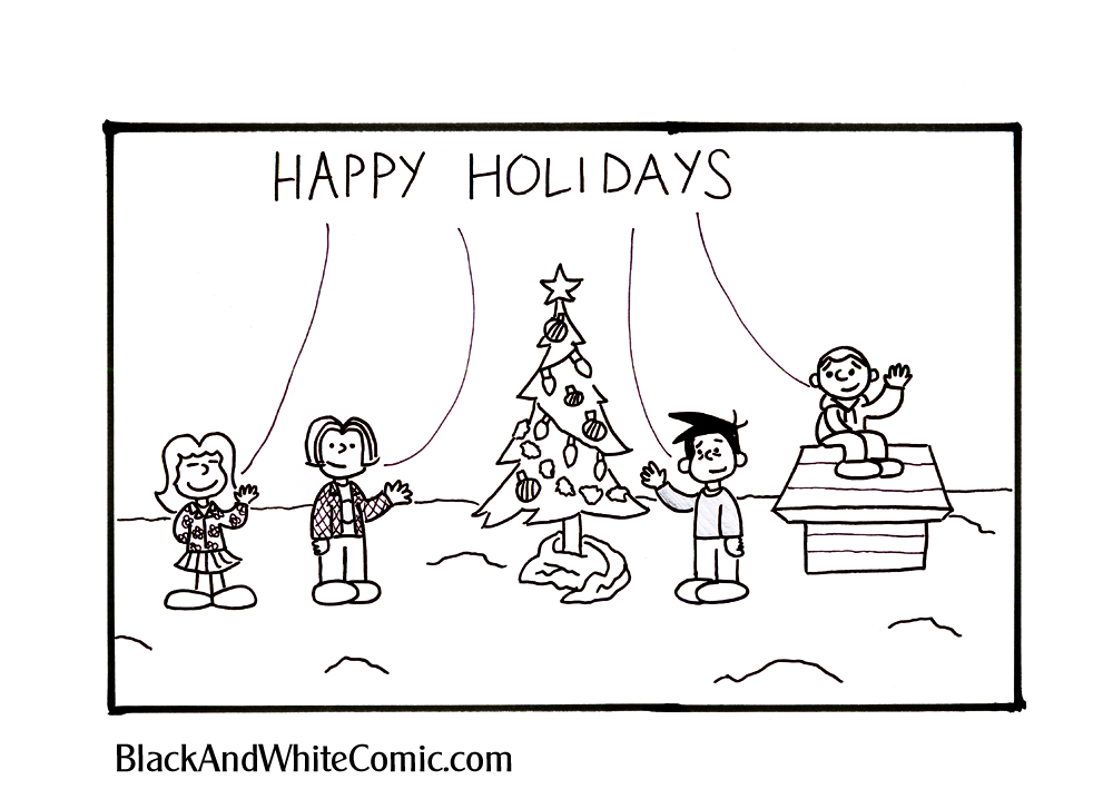 A link to the 21/12/2012 page of Black and White Comic