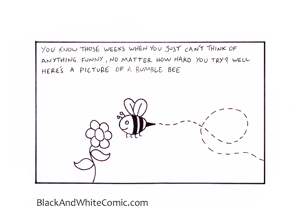 A link to the 28/02/2014 page of Black and White Comic