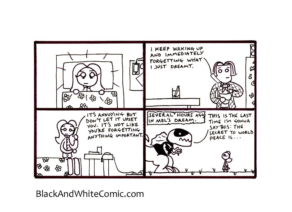 A link to the 17/01/2014 page of Black and White Comic