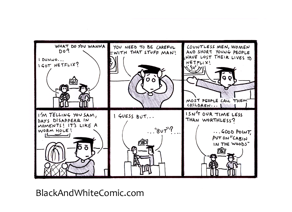 A link to the 24/01/2014 page of Black and White Comic