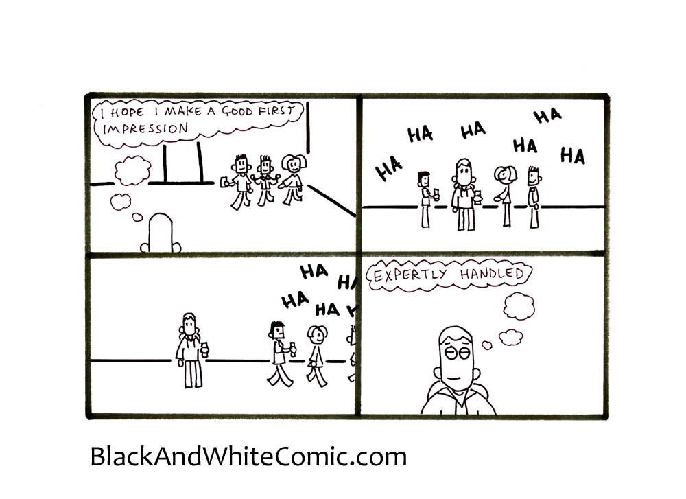 A link to the 19/07/2013 page of Black and White Comic