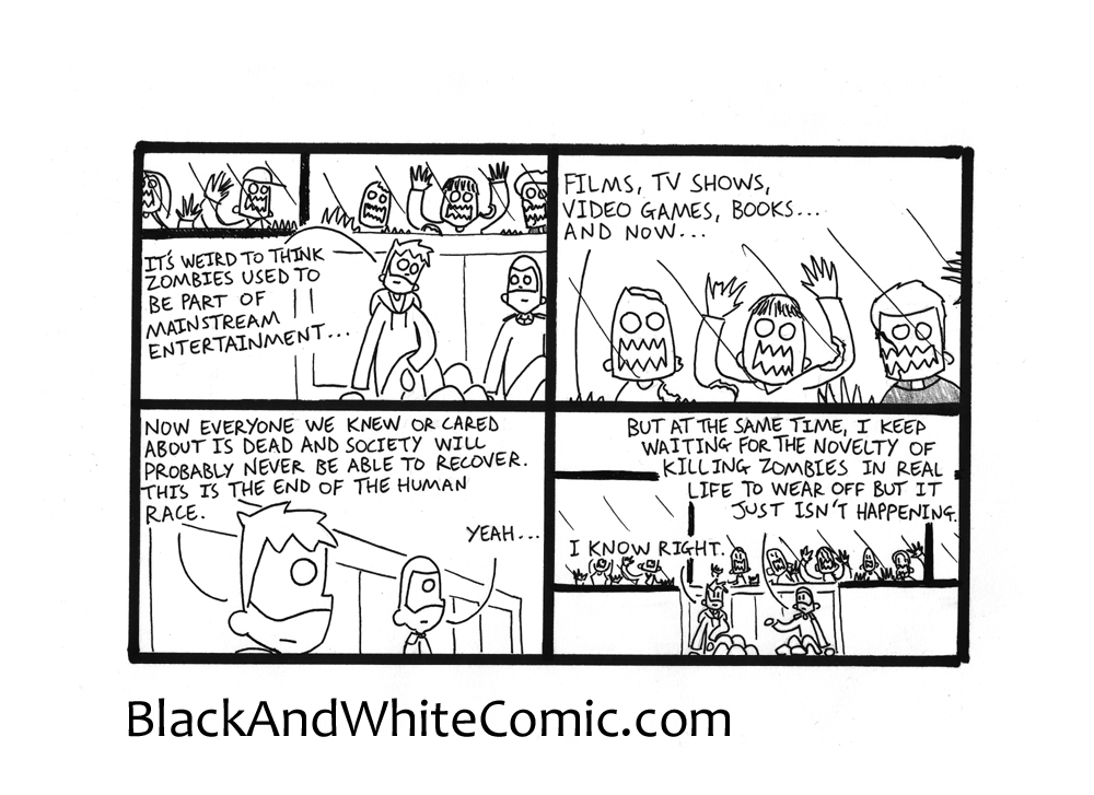 A link to the 05/06/2015 page of Black and White Comic