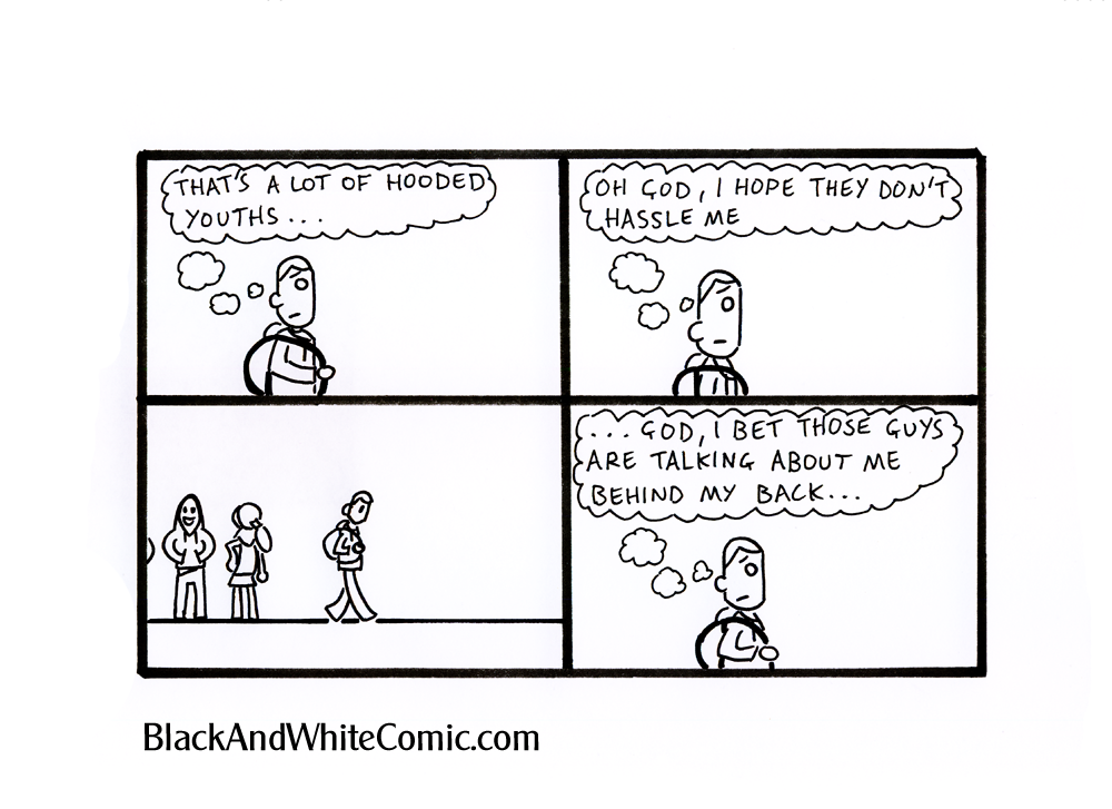 A link to the 15/03/2013 page of Black and White Comic