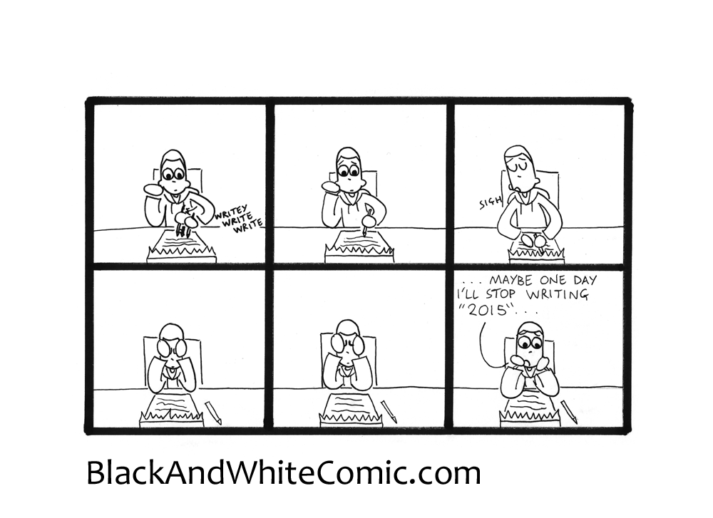 A link to the 25/03/2016 page of Black and White Comic