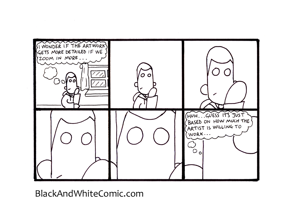 A link to the 02/05/2014 page of Black and White Comic