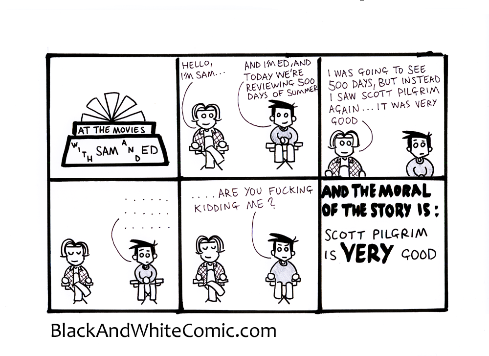 A link to the 24/05/2013 page of Black and White Comic