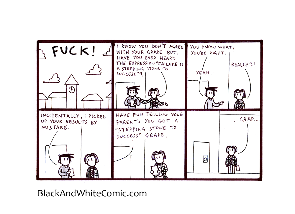 A link to the 15/11/2013 page of Black and White Comic