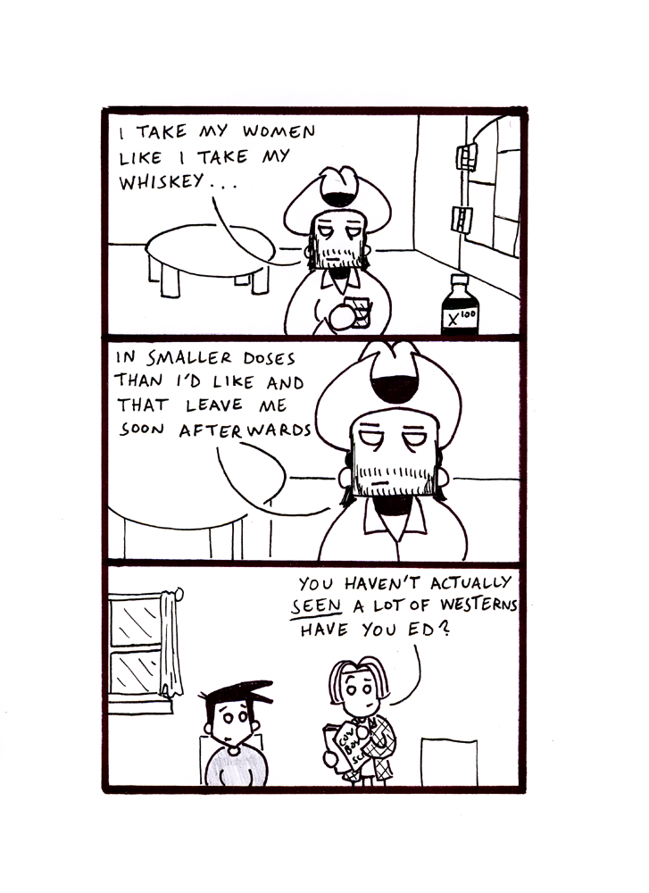 A link to the 22/11/2013 page of Black and White Comic