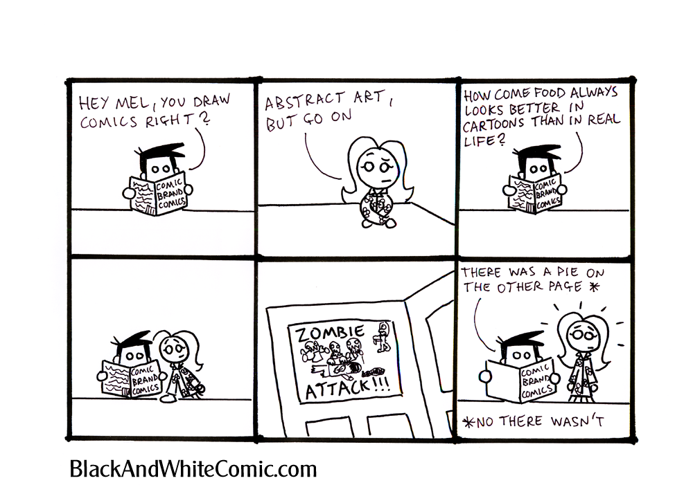 A link to the 12/10/2012 page of Black and White Comic