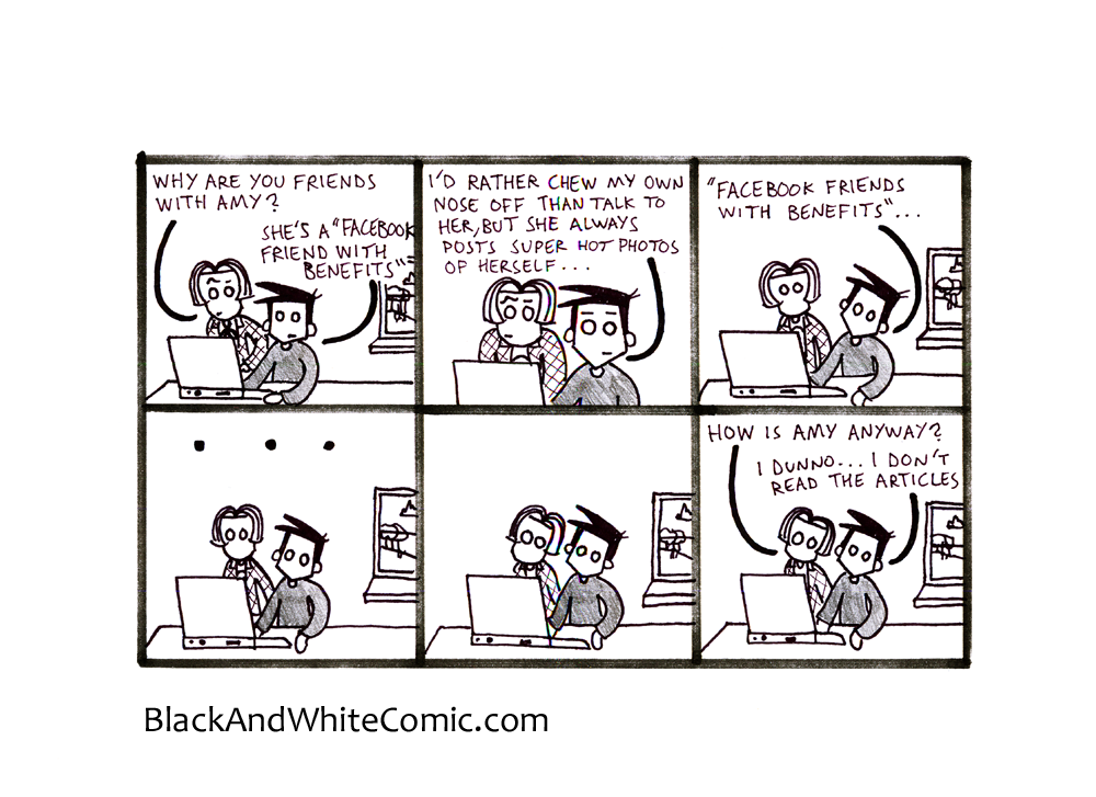 There's always a link to the 13/09/2013 page of Black and White Comic in the banana stand