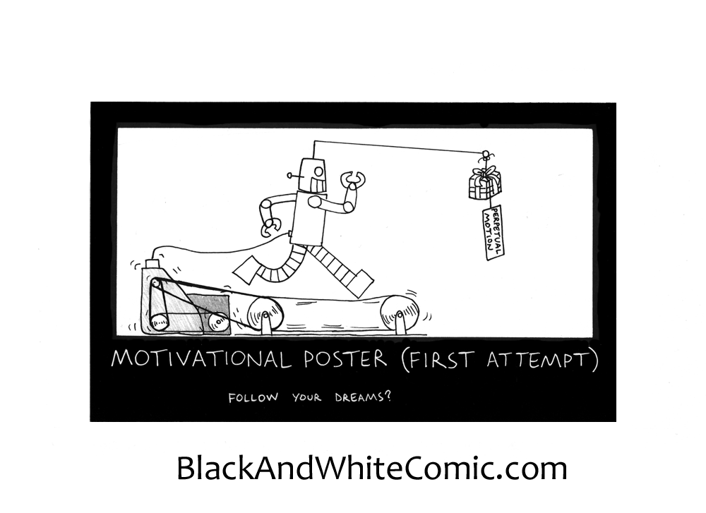 A link to the 18/09/2015 page of Black and White Comic
