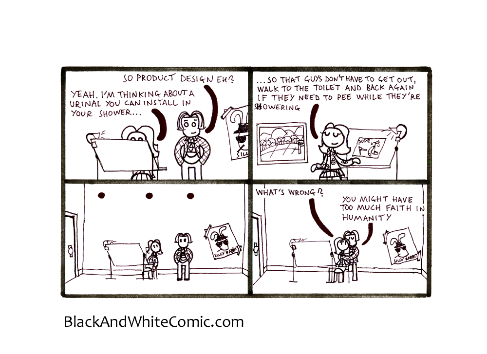 A link to the 20/09/2013 page of Black and White Comic